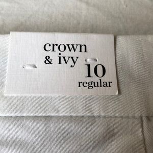 crown & ivy Shorts - Crown ivy white shorts size 10 NWT 4 inseam nice